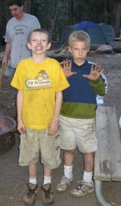 The Hinton boys who are becoming Men; Camping in Yosemite 2005.
